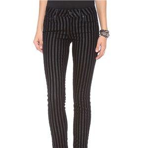 Paige Verdugo Ultra Skinny Jeans Flocked Stripe